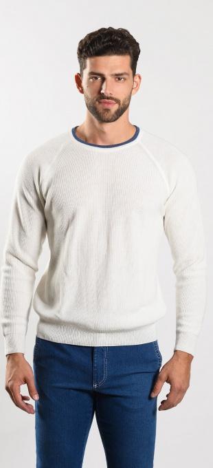 Béžový bavlnený pulóver