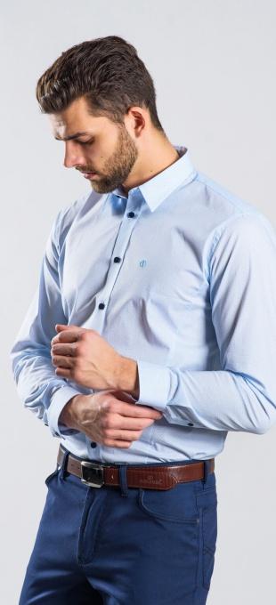 Blue Extra Slim Fit shirt - Basic Line
