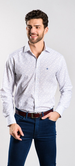 Modrá Extra Slim Fit košeľa rady Basic
