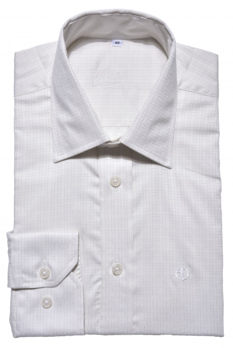 Ivory checkered Classic Fit shirt
