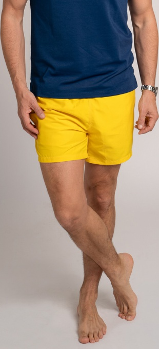Yellow swim shorts