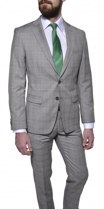 LIMITED EDITION Grey checkered suit