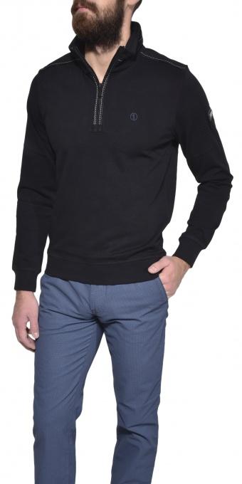 Čierny bavlnený pulóver