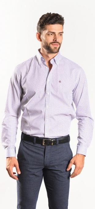 Vzorovaná Extra Slim Fit košeľa