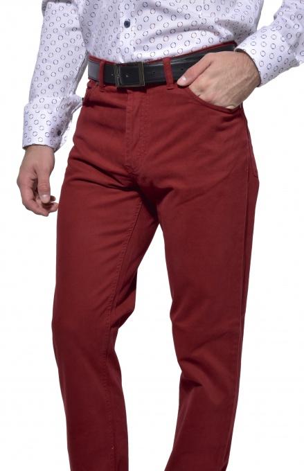 Bordové päťvreckové nohavice