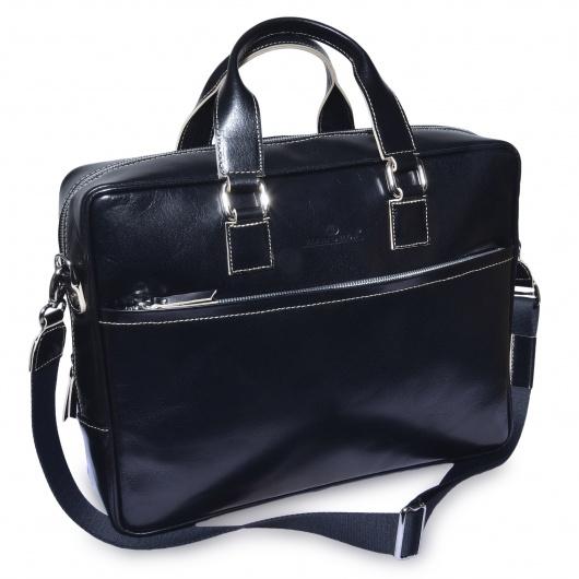 Čierna kožená taška