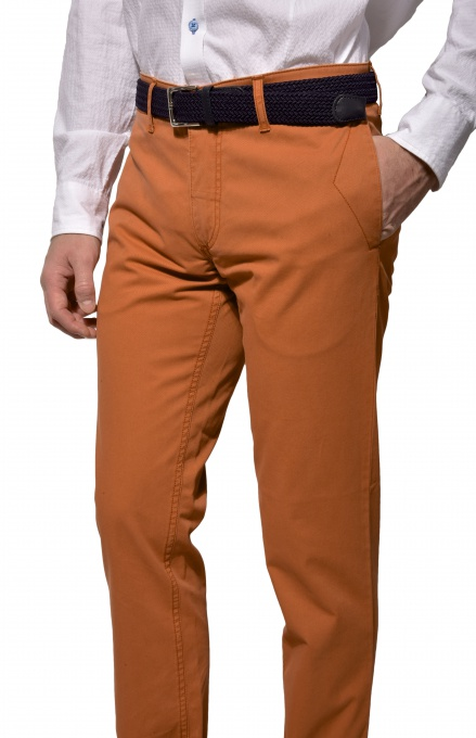 Casual orange chinos