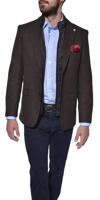 Brown autumn wool blazer