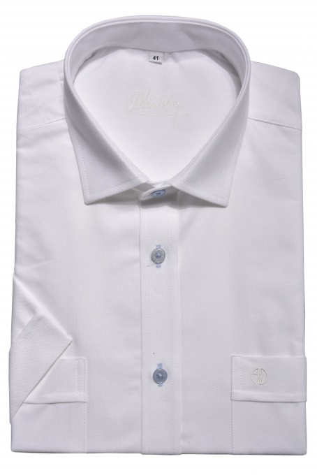 White casual short sleeved shirt