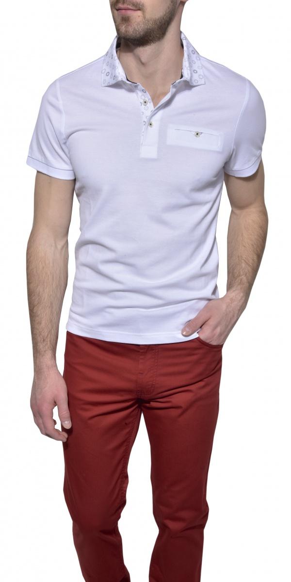 White piqué polo shirt