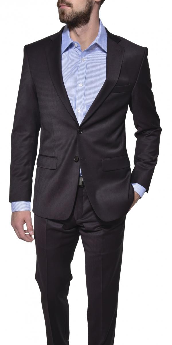 Hnedý Slim Fit oblek