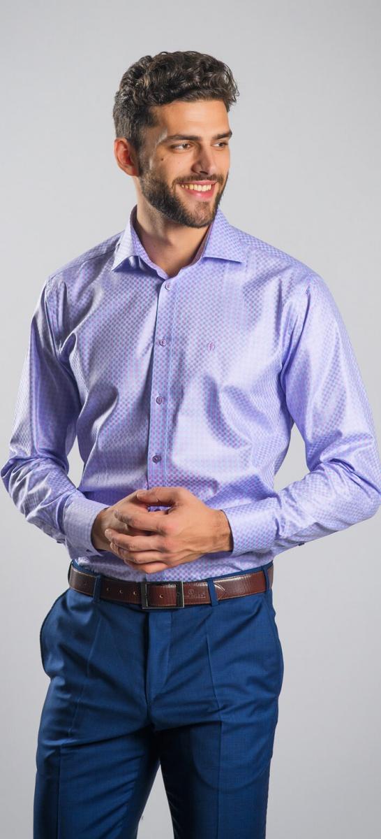 Fialová business Extra Slim Fit košeľa