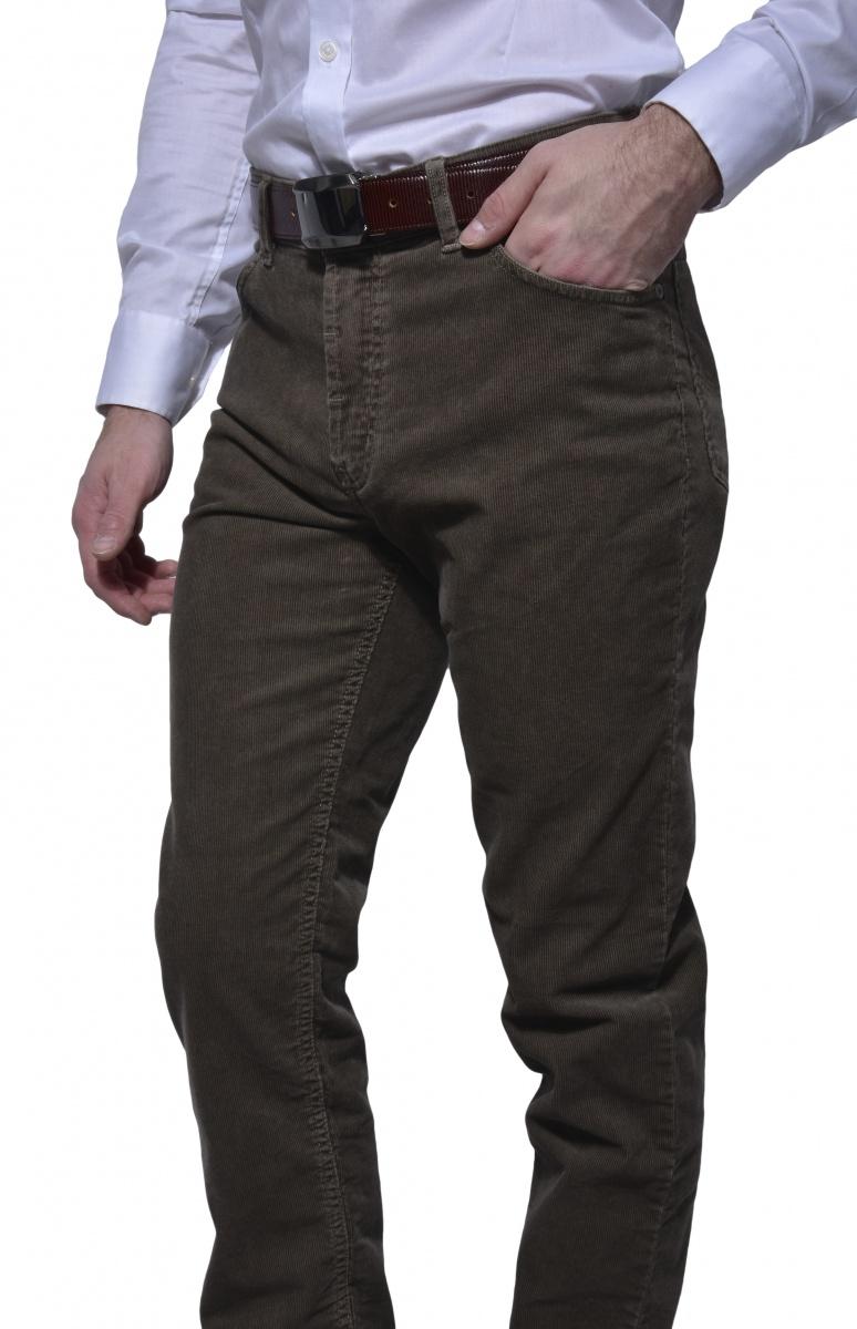 Hnedé manchestrove nohavice