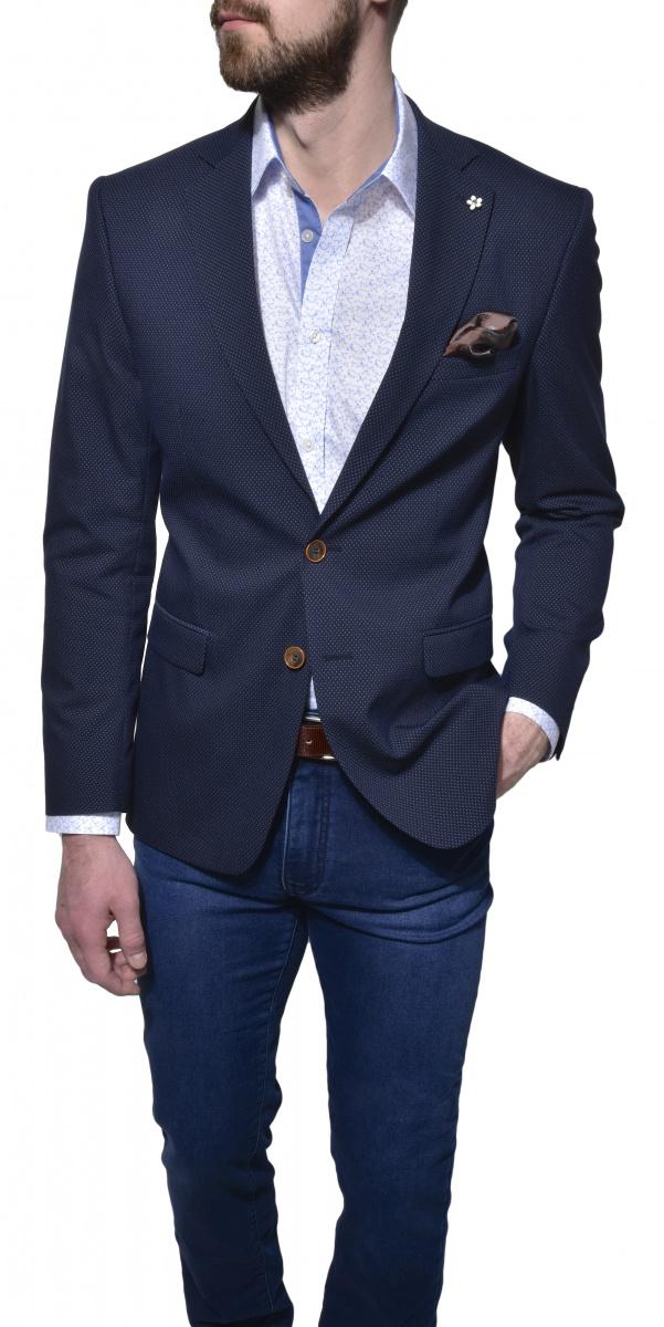 Modré voľnočasové sako