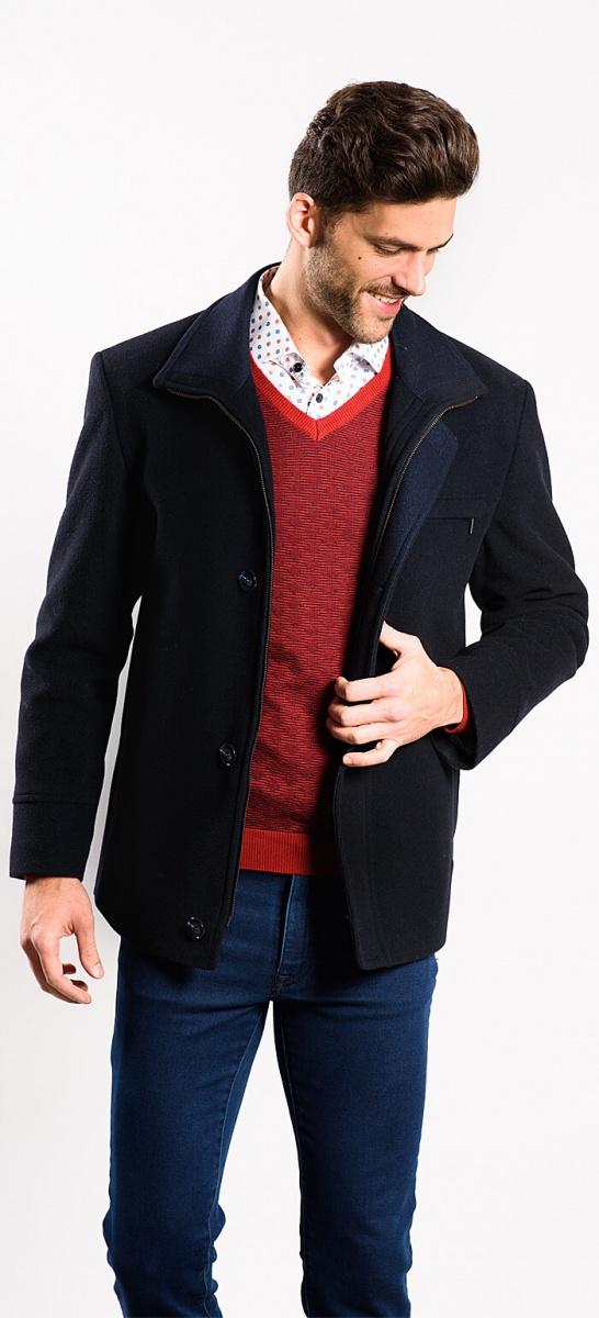 Modrá flaušová bunda