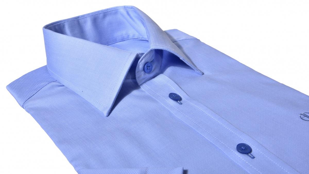 Modrá Extra Slim Fit košeľa s krátkym rukávom