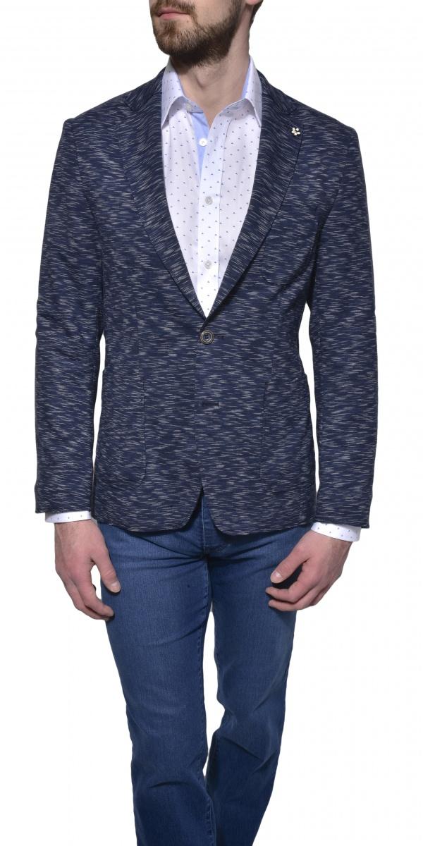 Blue unconstructed blazer