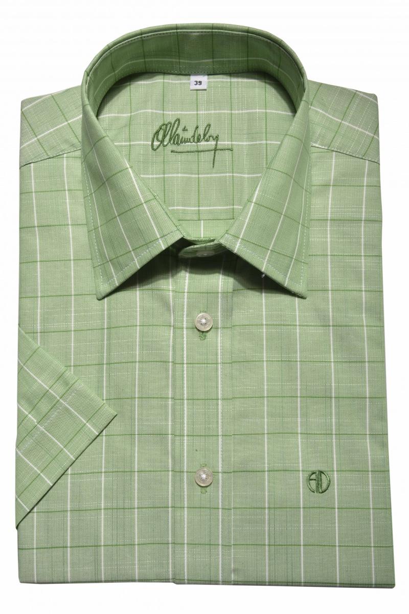 Green Slim Fit short sleeved shirt