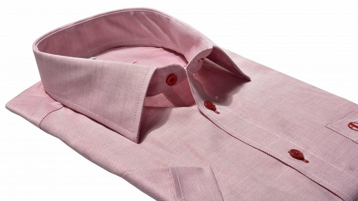 Červená Classic Fit košeľa s krátkym rukávom