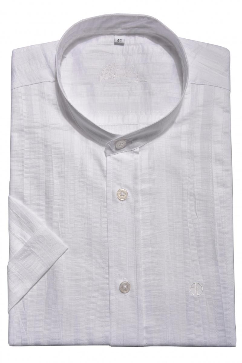 White Slim Fit short sleeved shirt