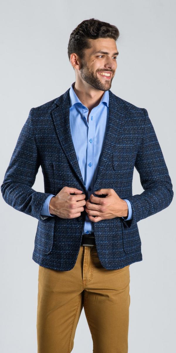 Blue structured blazer