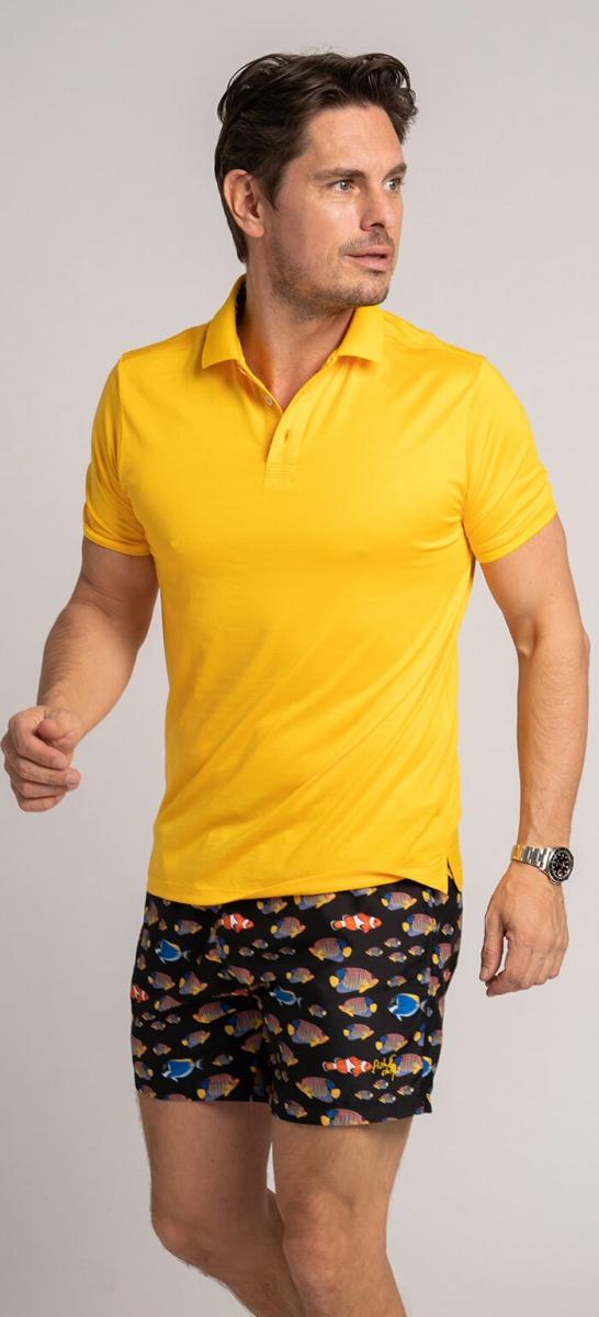 Žltá polokošeľa