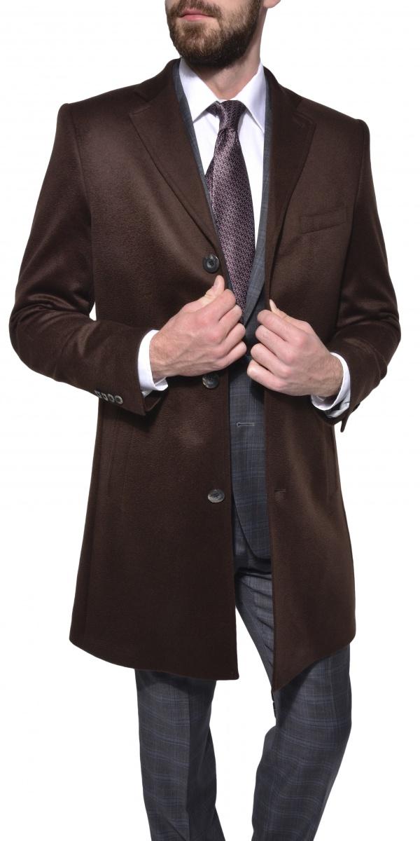LIMITED EDITION Hnedý kašmírový kabát