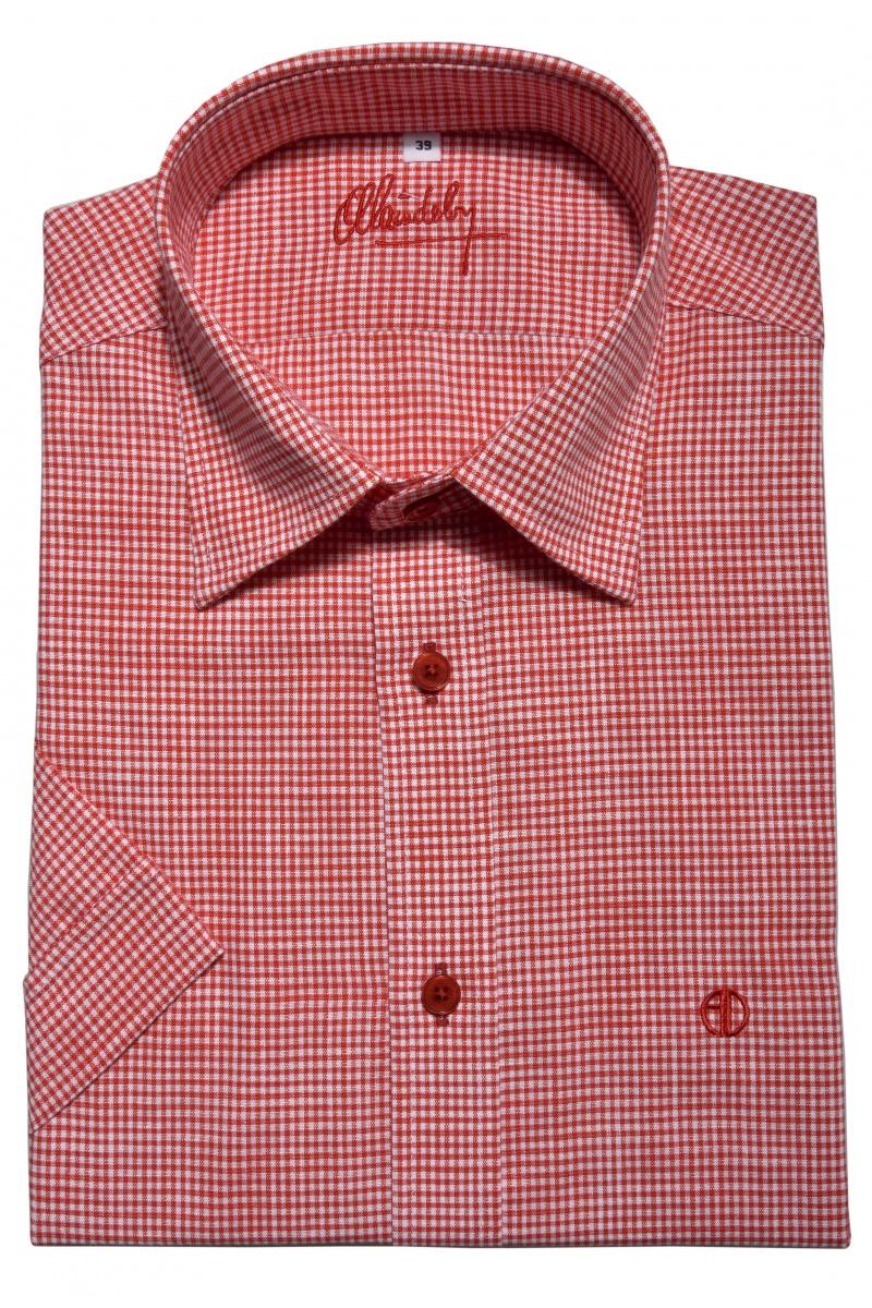 Károvaná Extra Slim Fit košeľa s krátkym rukávom