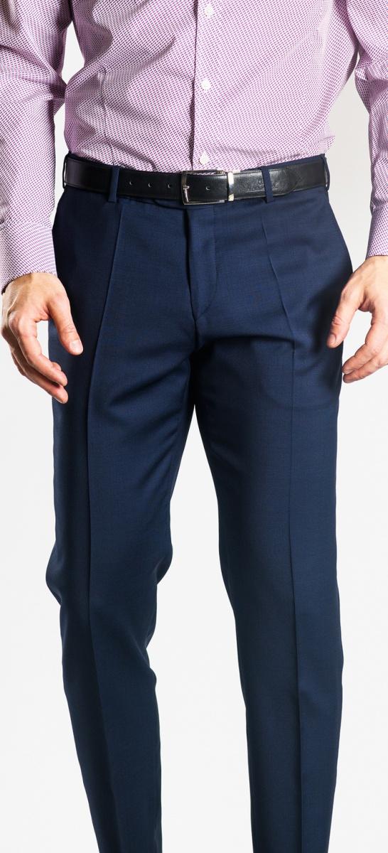 Tmavomodré oblekové nohavice