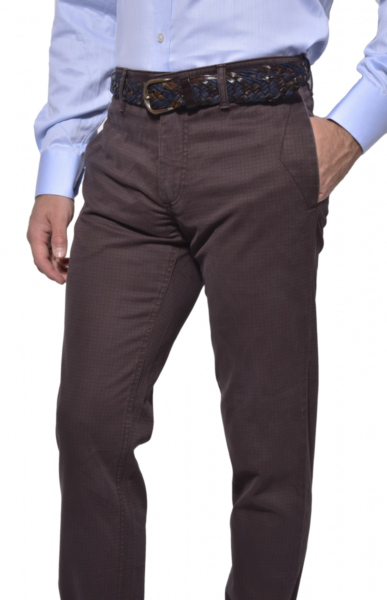 Dark brown casual chinos