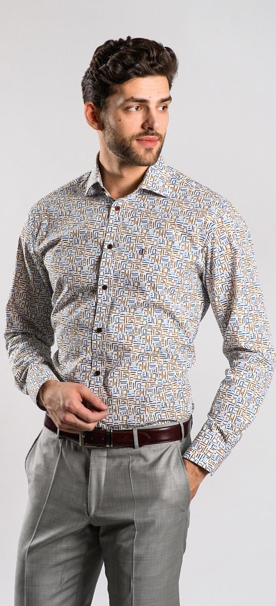 Výrazná voľnočasová Slim Fit košeľa