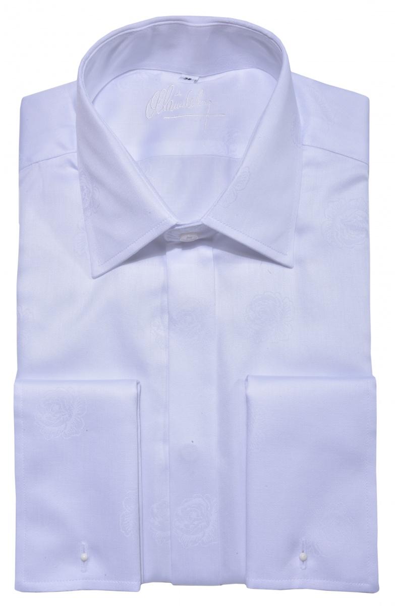 LUXURY LINE biela spoločenská Slim Fit košeľa