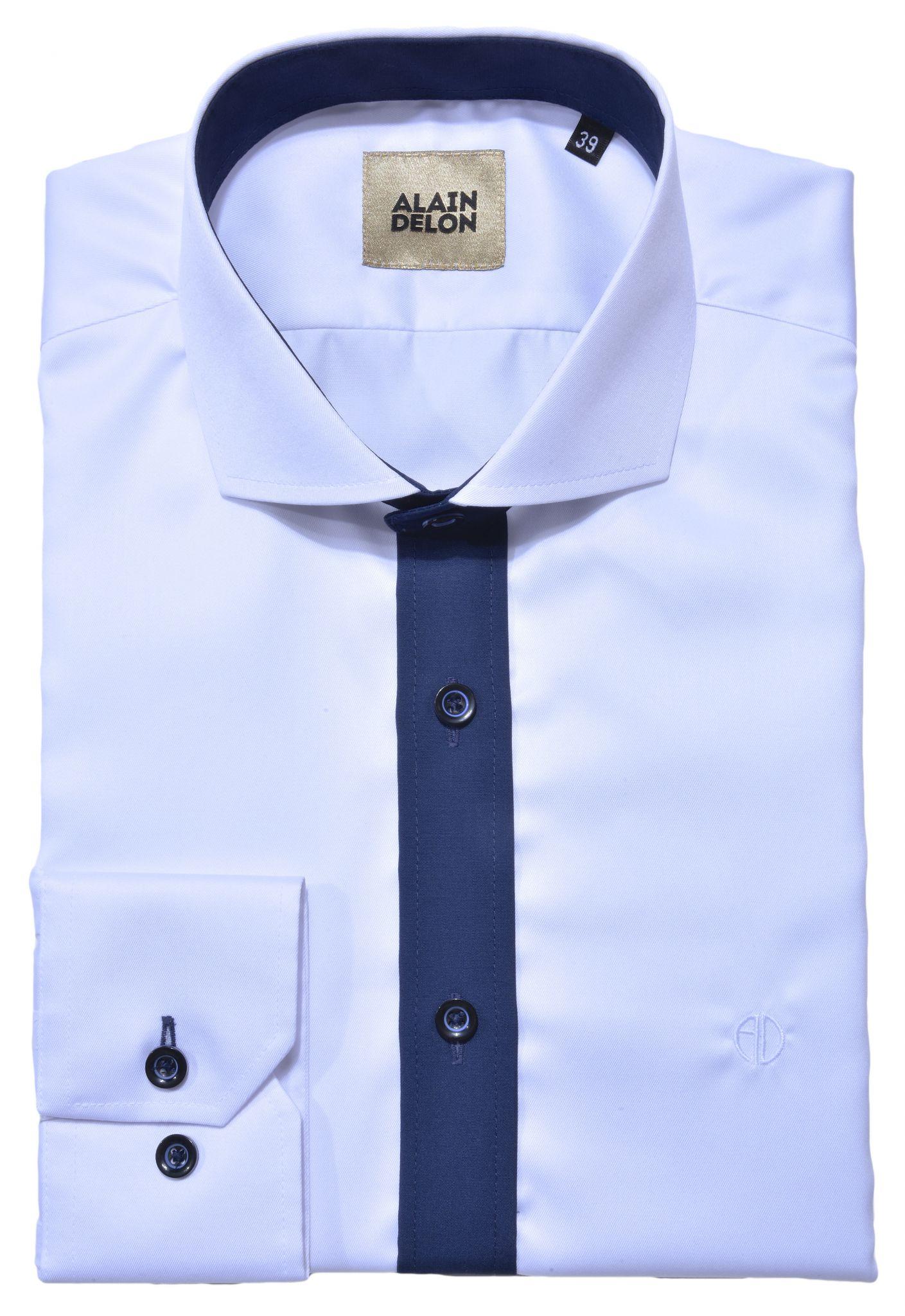 38d48f844ddf Biela športová Slim Fit košeľa - Košele - E-shop