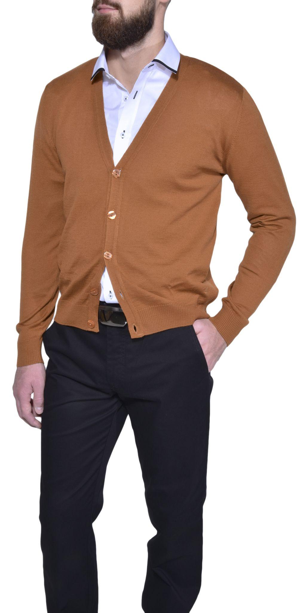 b1d4bf30a911 Hnedý sveter na gombíky - Pulóvre a svetre - E-shop